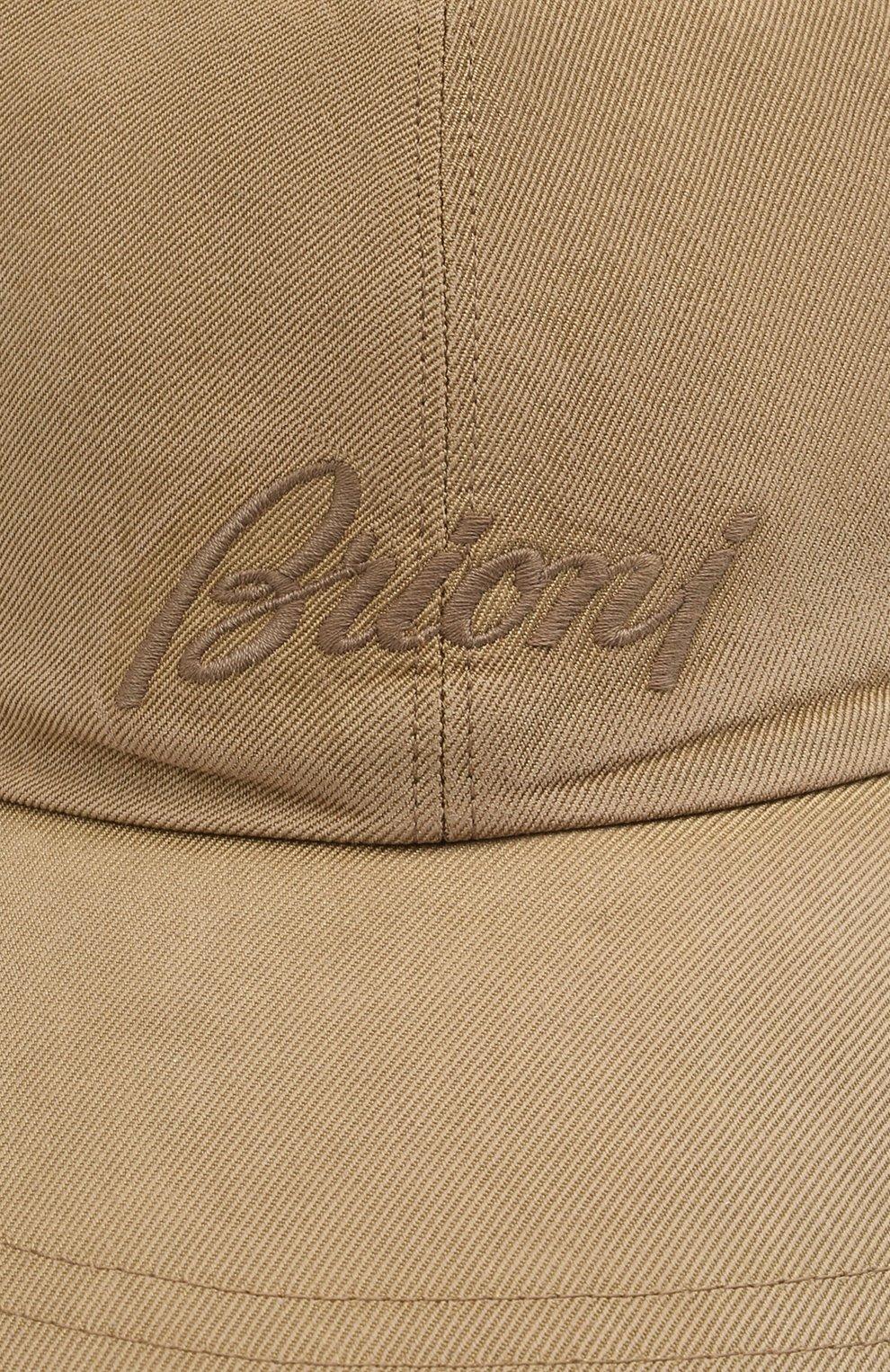 Мужской шелковая бейсболка BRIONI бежевого цвета, арт. 04830L/P0T00 | Фото 3