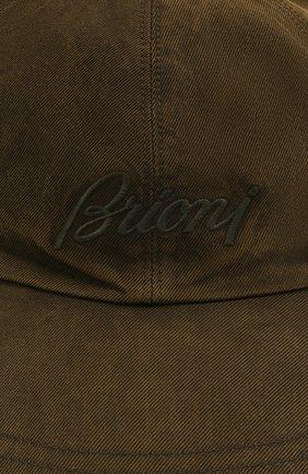Мужской шелковая бейсболка BRIONI хаки цвета, арт. 04830L/P0T00   Фото 3