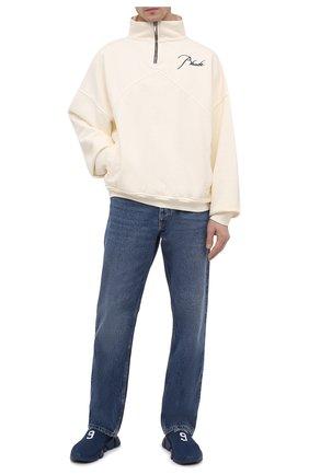 Мужские текстильные кроссовки speed BALENCIAGA синего цвета, арт. 645734/W2DBU | Фото 2