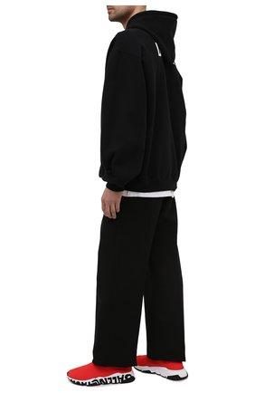 Мужские текстильные кроссовки speed BALENCIAGA красного цвета, арт. 645334/W2DB7 | Фото 2 (Стили: Гранж; Материал внешний: Текстиль; Подошва: Массивная; Материал внутренний: Текстиль)