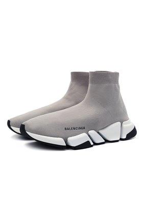 Мужские текстильные кроссовки speed 2.0 BALENCIAGA серого цвета, арт. 617239/W2DB2 | Фото 1