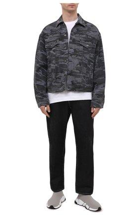 Мужские текстильные кроссовки speed 2.0 BALENCIAGA серого цвета, арт. 617239/W2DB2 | Фото 2