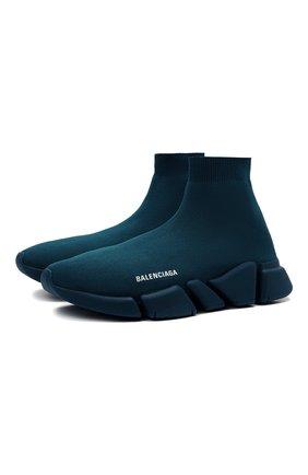 Мужские текстильные кроссовки speed 2.0 BALENCIAGA темно-бирюзового цвета, арт. 617239/W2DB1 | Фото 1 (Материал внутренний: Текстиль; Стили: Гранж; Подошва: Массивная; Материал внешний: Текстиль)