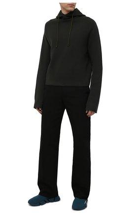 Мужские текстильные кроссовки speed 2.0 BALENCIAGA темно-бирюзового цвета, арт. 617239/W2DB1 | Фото 2