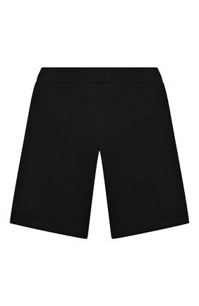 Детские хлопковые шорты BALMAIN черного цвета, арт. 6O6739   Фото 2