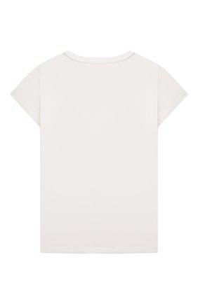 Детская хлопковая футболка CHLOÉ белого цвета, арт. C15B83 | Фото 2