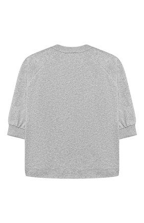 Детский хлопковый свитшот CHLOÉ серого цвета, арт. C15B79 | Фото 2