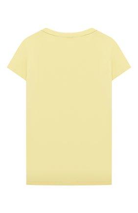 Детская хлопковая футболка CHLOÉ желтого цвета, арт. C15B87 | Фото 2