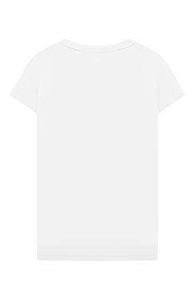 Детская футболка CHLOÉ белого цвета, арт. C15B82 | Фото 2