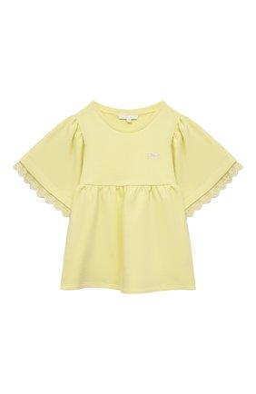 Детский толстовка CHLOÉ желтого цвета, арт. C15B81 | Фото 1