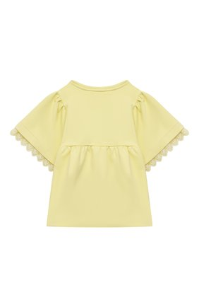 Детский толстовка CHLOÉ желтого цвета, арт. C15B81 | Фото 2