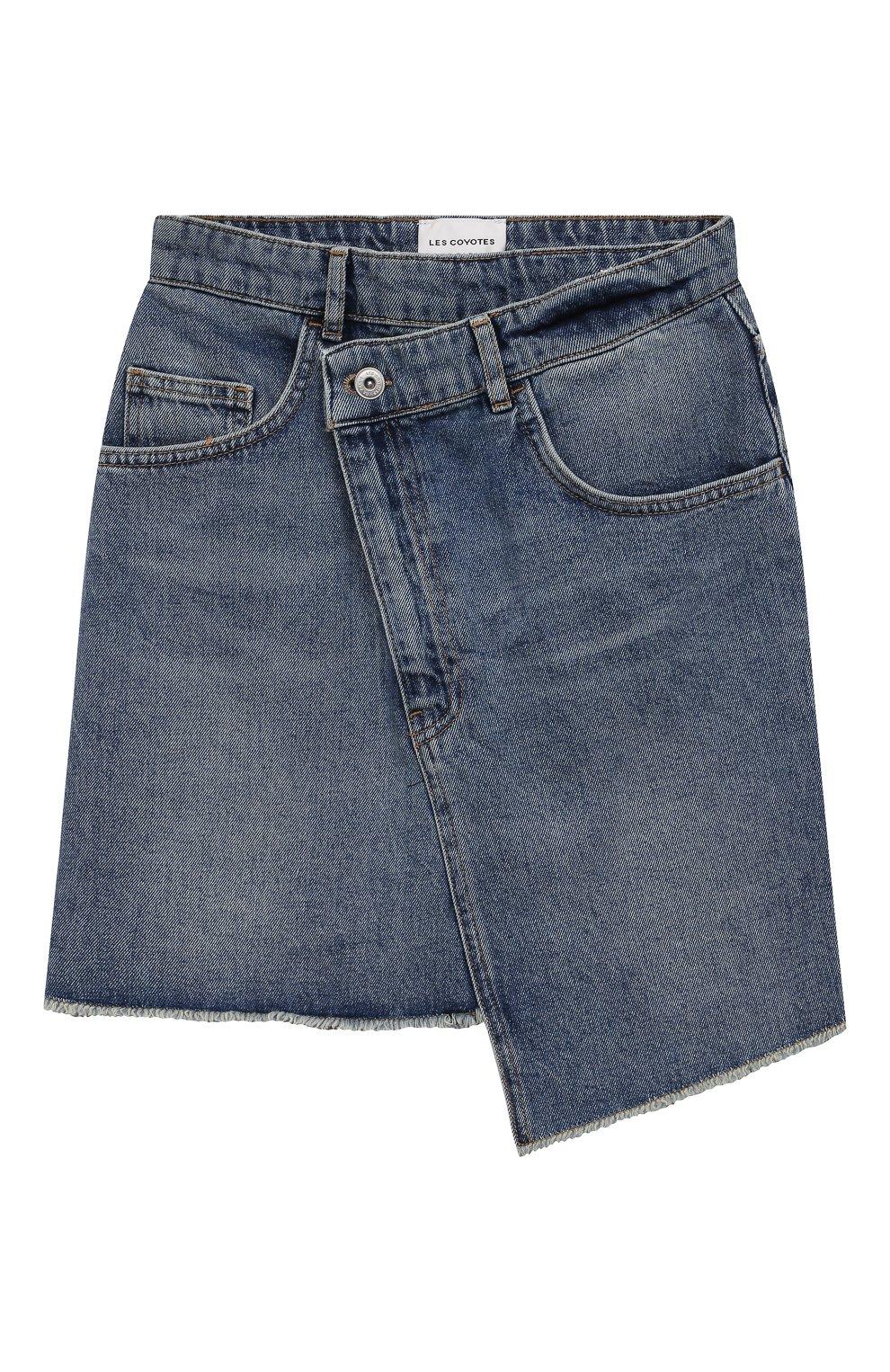 Детская джинсовая юбка LES COYOTES DE PARIS голубого цвета, арт. 115-31-130 | Фото 1