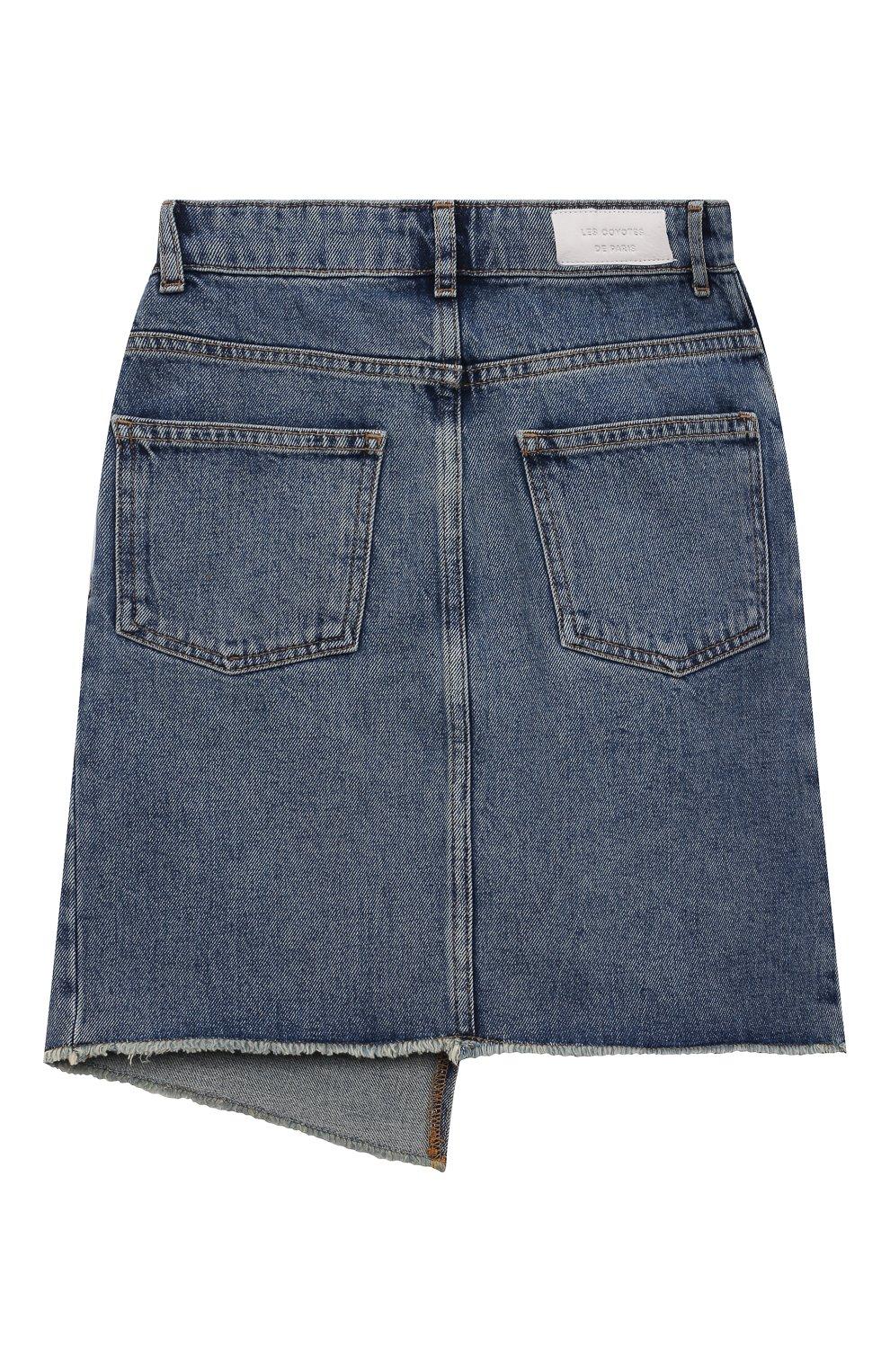 Детская джинсовая юбка LES COYOTES DE PARIS голубого цвета, арт. 115-31-130 | Фото 2