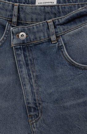 Детская джинсовая юбка LES COYOTES DE PARIS голубого цвета, арт. 115-31-130 | Фото 3