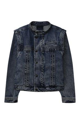 Детская джинсовая куртка LES COYOTES DE PARIS синего цвета, арт. 115-31-011   Фото 1