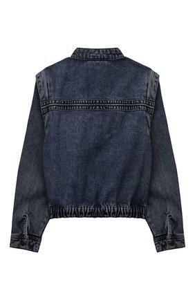 Детская джинсовая куртка LES COYOTES DE PARIS синего цвета, арт. 115-31-011   Фото 2