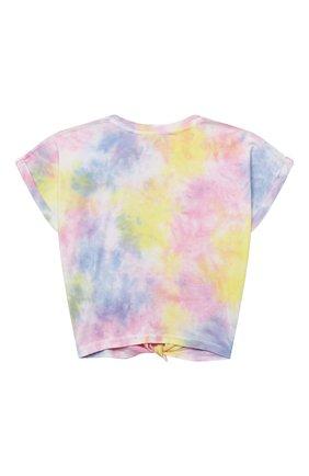 Детская хлопковая футболка DKNY разноцветного цвета, арт. D35R34 | Фото 2