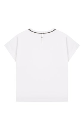 Детская хлопковая футболка BRUNELLO CUCINELLI белого цвета, арт. B0A45T030C | Фото 2