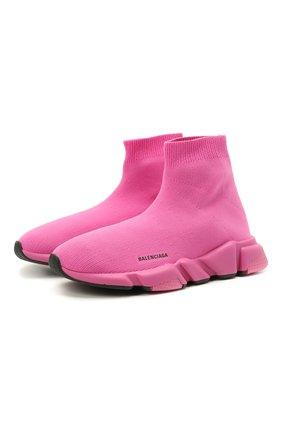 Детские текстильные кроссовки BALENCIAGA розового цвета, арт. 597425/W2DB4 | Фото 1