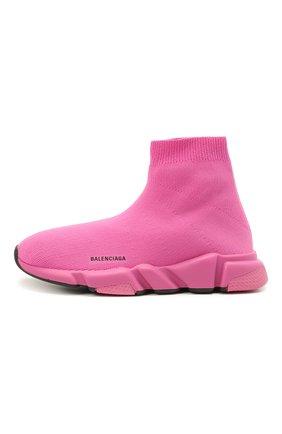 Детские текстильные кроссовки BALENCIAGA розового цвета, арт. 597425/W2DB4 | Фото 2