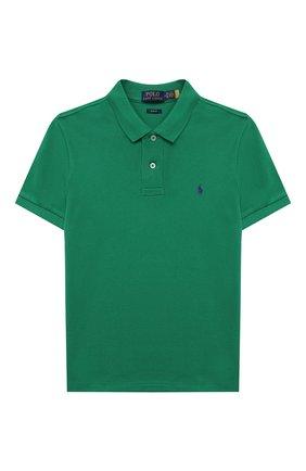 Детское хлопковое поло POLO RALPH LAUREN зеленого цвета, арт. 323547926   Фото 1