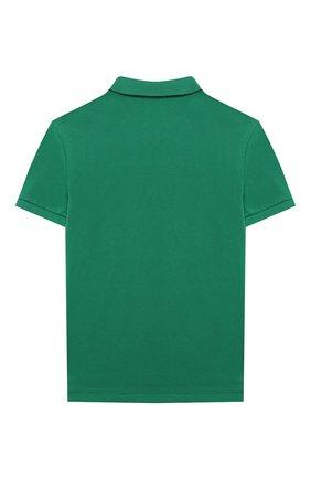 Детское хлопковое поло POLO RALPH LAUREN зеленого цвета, арт. 323547926   Фото 2