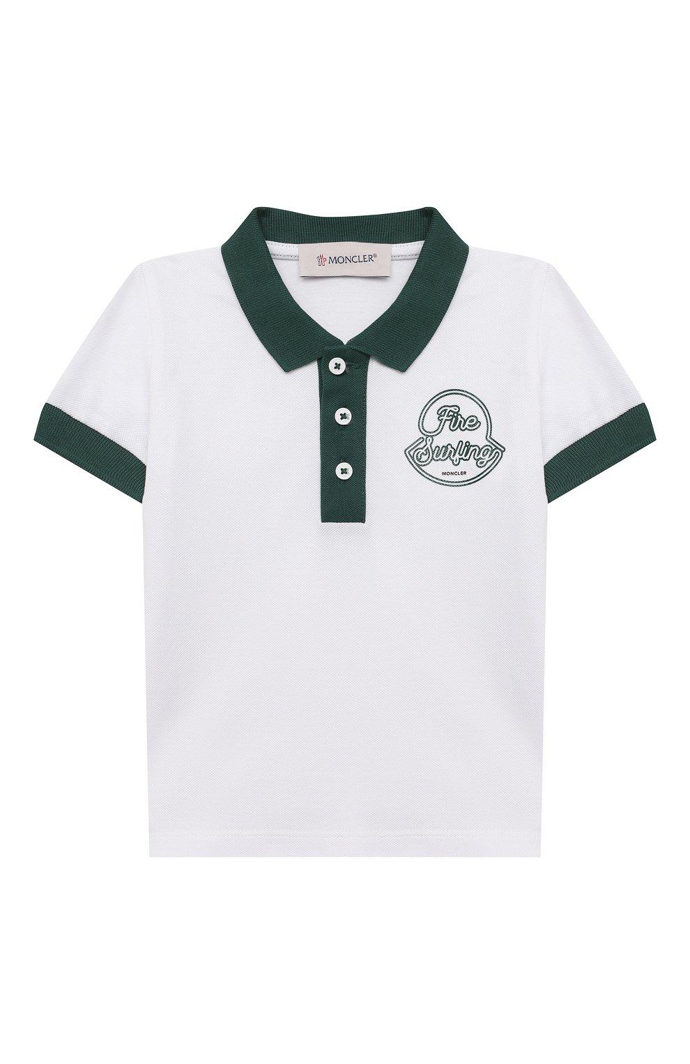 Детский комплект из поло и шорт MONCLER зеленого цвета, арт. G1-951-8M760-20-8496F   Фото 2