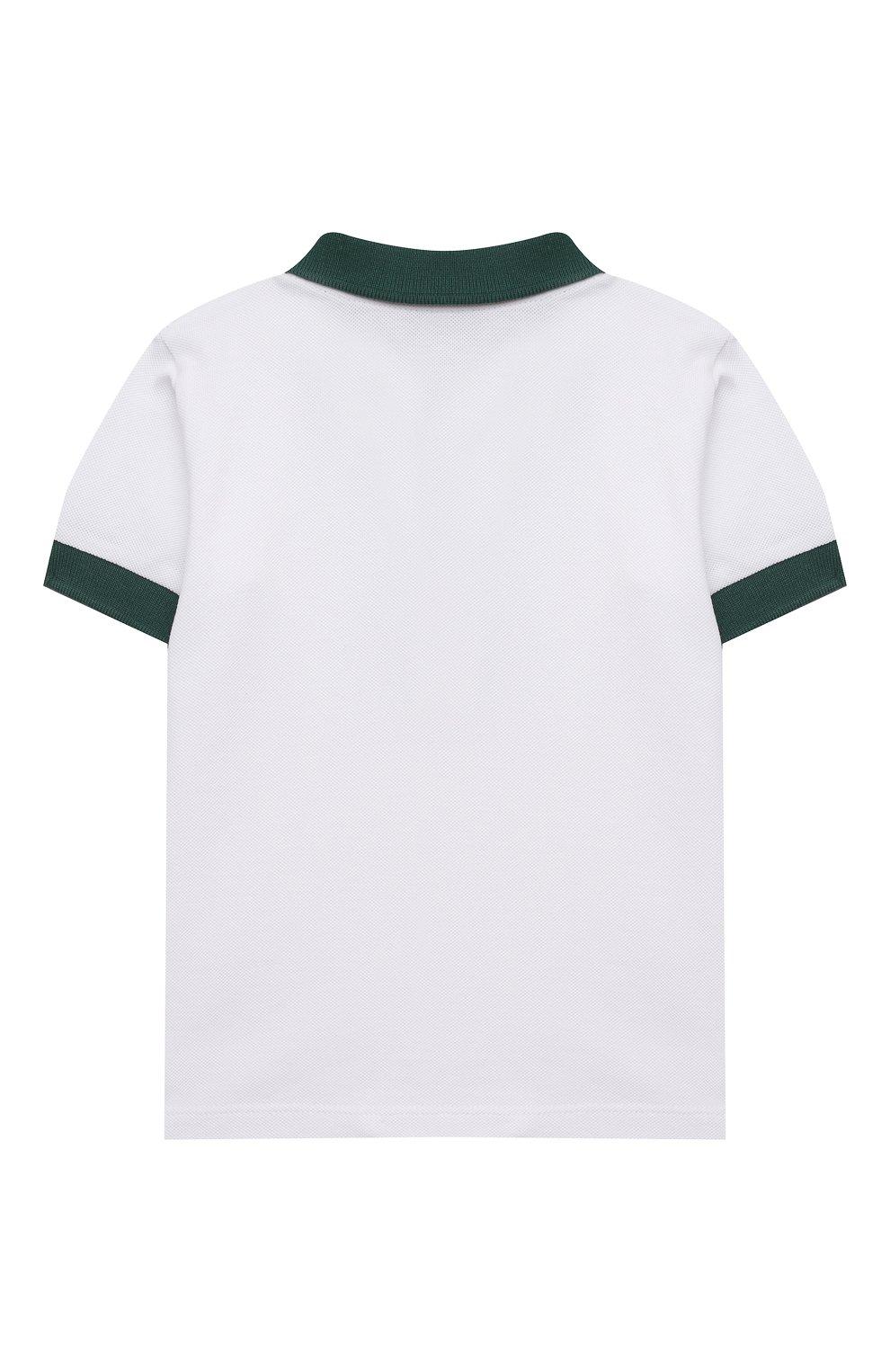 Детский комплект из поло и шорт MONCLER зеленого цвета, арт. G1-951-8M760-20-8496F   Фото 3