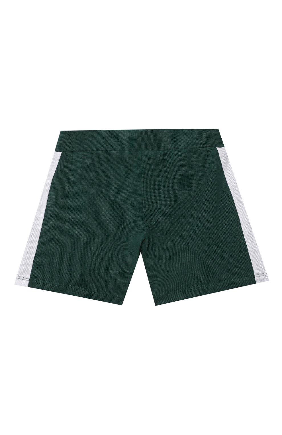 Детский комплект из поло и шорт MONCLER зеленого цвета, арт. G1-951-8M760-20-8496F   Фото 4