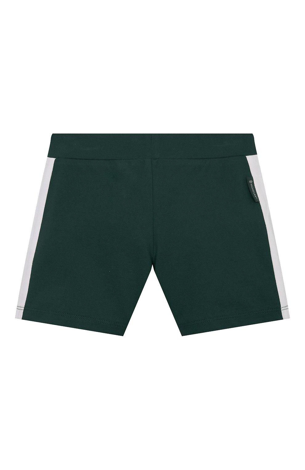 Детский комплект из поло и шорт MONCLER зеленого цвета, арт. G1-951-8M760-20-8496F   Фото 5