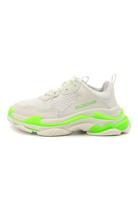 Детские кроссовки BALENCIAGA зеленого цвета, арт. 654251/W2CA3   Фото 2