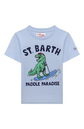 Детская хлопковая футболка MC2 SAINT BARTH голубого цвета, арт. STBK TSHIRT B0Y/TSH0001/PADI3L   Фото 1