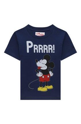 Детская хлопковая футболка MC2 SAINT BARTH синего цвета, арт. STBK TSHIRT B0Y/TSH0001/MKYPD7 | Фото 1
