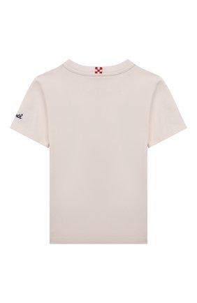 Детская хлопковая футболка MC2 SAINT BARTH бежевого цвета, арт. STBK TSHIRT B0Y/TSH0001/MIST11   Фото 2
