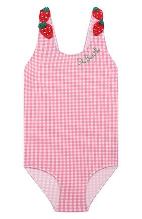 Детского слитный купальник MC2 SAINT BARTH розового цвета, арт. STBK SARITA/SAR0001   Фото 1