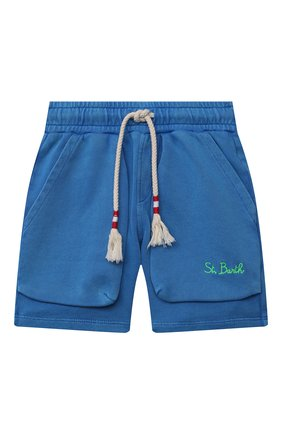 Детские хлопковые шорты MC2 SAINT BARTH синего цвета, арт. STBK RANDLE JR P/RANL007   Фото 1