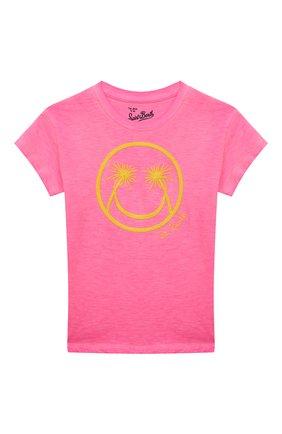 Детская хлопковая футболка MC2 SAINT BARTH фуксия цвета, арт. STBK EMMA/EMM0001/PLSM25 | Фото 1
