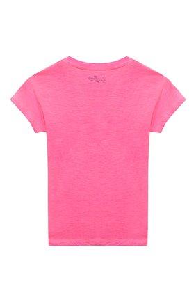 Детская хлопковая футболка MC2 SAINT BARTH фуксия цвета, арт. STBK EMMA/EMM0001/PLSM25 | Фото 2