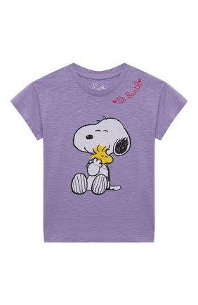 Детская хлопковая футболка MC2 SAINT BARTH фиолетового цвета, арт. STBK EMMA/EMM0001/SNL024 | Фото 1
