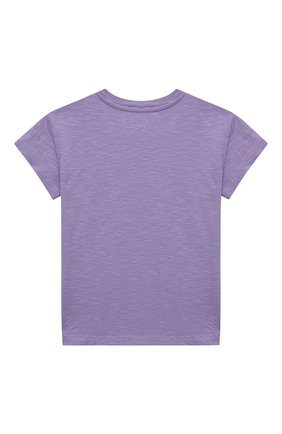 Детская хлопковая футболка MC2 SAINT BARTH фиолетового цвета, арт. STBK EMMA/EMM0001/SNL024 | Фото 2
