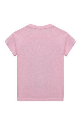 Детская хлопковая футболка MC2 SAINT BARTH розового цвета, арт. STBK EMMA/EMM0001/PFBG21 | Фото 2