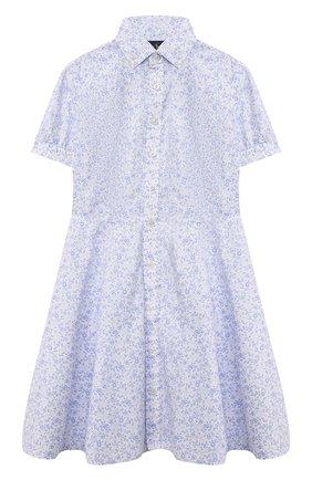 Детское хлопковое платье POLO RALPH LAUREN разноцветного цвета, арт. 313837239 | Фото 1