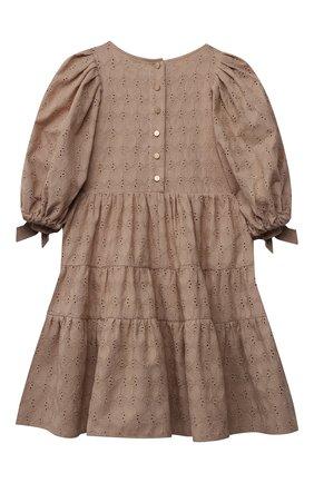 Детское хлопковое платье ZHANNA & ANNA коричневого цвета, арт. ZAB02032021 | Фото 2