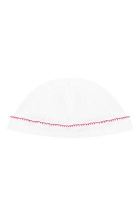 Детского хлопковая шапка LES LUTINS PARIS белого цвета, арт. 21E529/B0NNET FLU0 21E28 | Фото 1