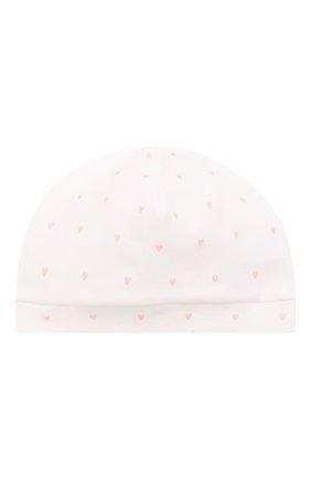 Детского хлопковая шапка LES LUTINS PARIS белого цвета, арт. 21E527/B0NNET C0EUR 21E26 | Фото 1