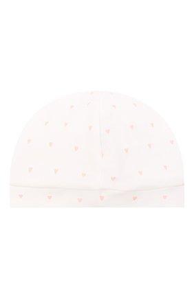 Детского хлопковая шапка LES LUTINS PARIS белого цвета, арт. 21E527/B0NNET C0EUR 21E26 | Фото 2