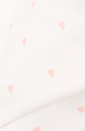 Детского хлопковая шапка LES LUTINS PARIS белого цвета, арт. 21E527/B0NNET C0EUR 21E26 | Фото 3 (Материал: Текстиль, Хлопок)