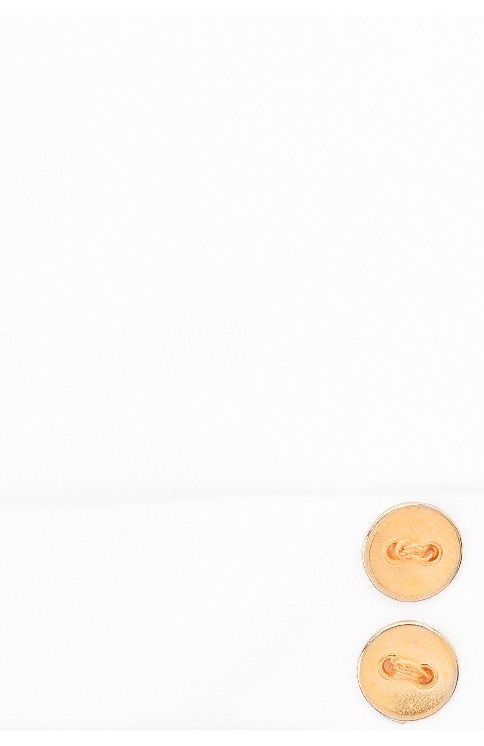 Детского хлопковая шапка LES LUTINS PARIS белого цвета, арт. 21E526/B0NNET UNI 21E25   Фото 3