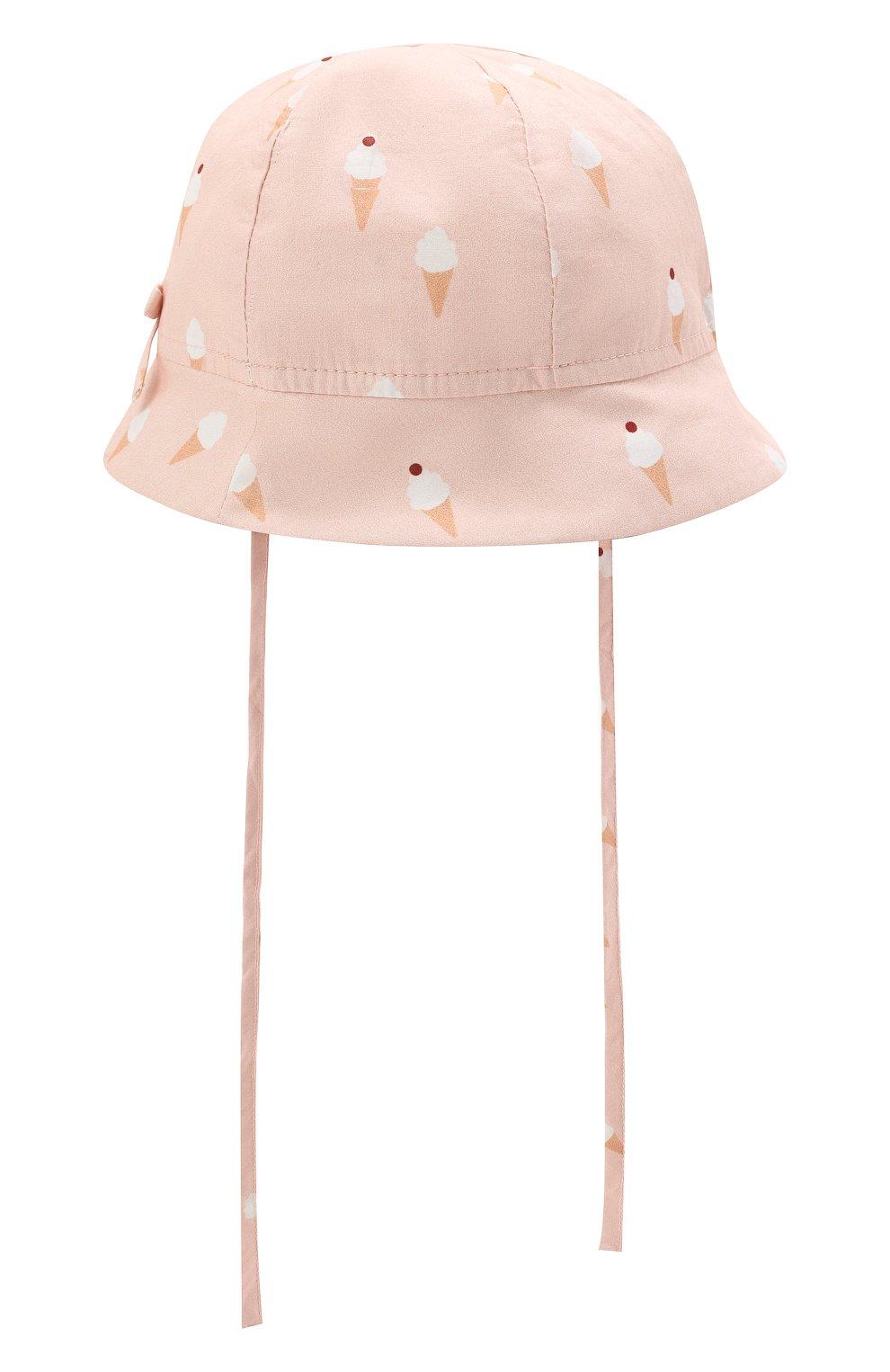 Детская хлопковая панама LES LUTINS PARIS розового цвета, арт. 21E401/B0B JEANNE | Фото 1 (Материал: Текстиль, Хлопок)