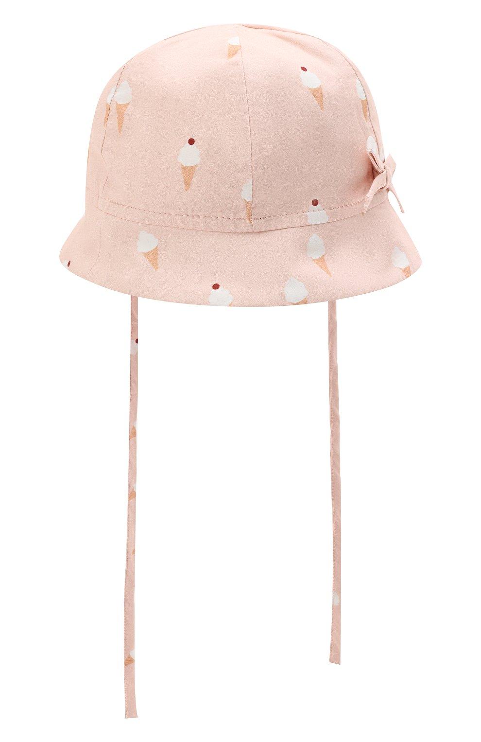 Детская хлопковая панама LES LUTINS PARIS розового цвета, арт. 21E401/B0B JEANNE | Фото 2 (Материал: Текстиль, Хлопок)